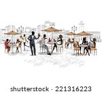 series of the streets with... | Shutterstock .eps vector #221316223