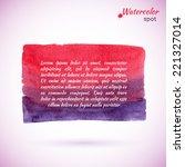 abstract watercolor splash.... | Shutterstock .eps vector #221327014