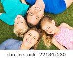 portrait of happy family of... | Shutterstock . vector #221345530
