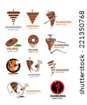 arabic food icon collection ... | Shutterstock .eps vector #221350768