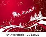 christmas background with santa ...   Shutterstock .eps vector #2213521
