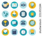 set of modern flat icons. eps10 | Shutterstock .eps vector #221352184
