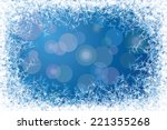 Blue Frosted Window. Eps8. Cmy...