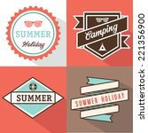 banner label summer design | Shutterstock .eps vector #221356900