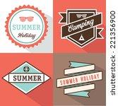 banner label summer design | Shutterstock .eps vector #221356900