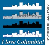 columbia  south carolina | Shutterstock .eps vector #221359390