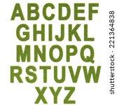 grass alhpabet | Shutterstock . vector #221364838