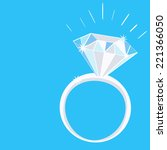 engagement diamond ring with...   Shutterstock .eps vector #221366050