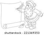 Santa Claus Writing A Holiday Ad