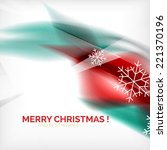 red color christmas blurred... | Shutterstock .eps vector #221370196