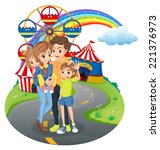 Illustration Of A Family At Th...
