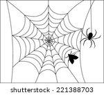 spider web vector  | Shutterstock .eps vector #221388703