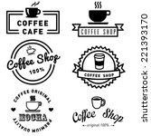 set of banner label coffee... | Shutterstock .eps vector #221393170