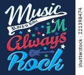 t shirt graphics typography... | Shutterstock .eps vector #221398474