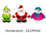 santa claus  elf  snowman...   Shutterstock .eps vector #22139962