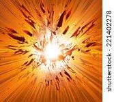 vector explosion  all easy... | Shutterstock .eps vector #221402278