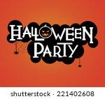 halloween party text design   Shutterstock .eps vector #221402608