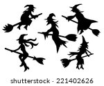set of witches  | Shutterstock .eps vector #221402626