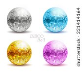 set of disco balls. disco... | Shutterstock .eps vector #221414164