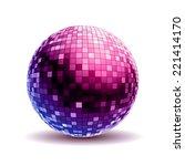 disco ball. disco background | Shutterstock .eps vector #221414170