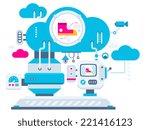 vector industrial illustration... | Shutterstock .eps vector #221416123