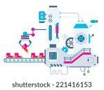 vector industrial illustration... | Shutterstock .eps vector #221416153