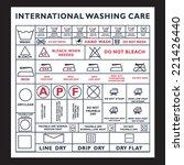 icon set of laundry symbols ... | Shutterstock .eps vector #221426440