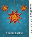 hanging diwali start shape... | Shutterstock .eps vector #221427520