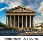 famous madeleine church under... | Shutterstock . vector #221427706