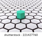 unique concept abstract 3d... | Shutterstock . vector #221427760