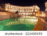 Piazza Repubblica  Rome At Night