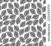seamless pattern with leaves.... | Shutterstock .eps vector #221433370