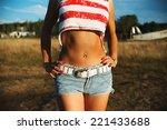 beautiful girl posing | Shutterstock . vector #221433688