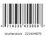 bar code  financial industry | Shutterstock . vector #221434870