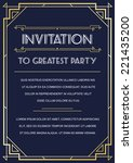 gatsby style invitation in art... | Shutterstock .eps vector #221435200
