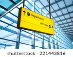 airport departure and arrival... | Shutterstock . vector #221443816