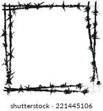Doodle Barbed Wire Vector