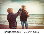 children let the bubbles on the ... | Shutterstock . vector #221445319