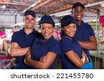 happy textile factory co... | Shutterstock . vector #221455780