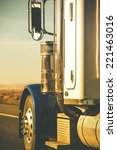 semi truck tractor closeup on... | Shutterstock . vector #221463016