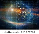 particle geometry series.... | Shutterstock . vector #221471284
