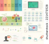 set of infographics elements... | Shutterstock .eps vector #221473528