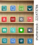 Wood Shelf Modern Design...