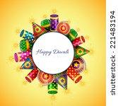 vector happy diwali background... | Shutterstock .eps vector #221483194
