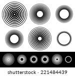 circles | Shutterstock .eps vector #221484439