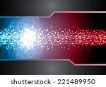 dark blue red light abstract...   Shutterstock .eps vector #221489950