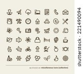 set   miscellaneous icons ... | Shutterstock .eps vector #221490094