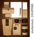 coffee identity design   Shutterstock .eps vector #221495080