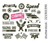 car races club badges in retro... | Shutterstock .eps vector #221501590