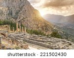 The Temple Of Apollo Delphi...
